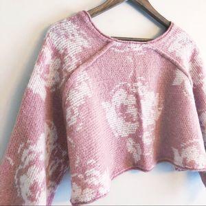Free People | Purple Rain cropped sweater small